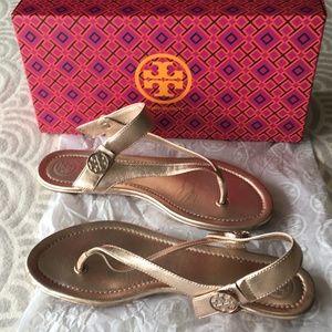Tory Burch Minnie Travel Sandal Metallic
